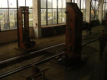 Zmiana podwozia pociągu w Brześciu