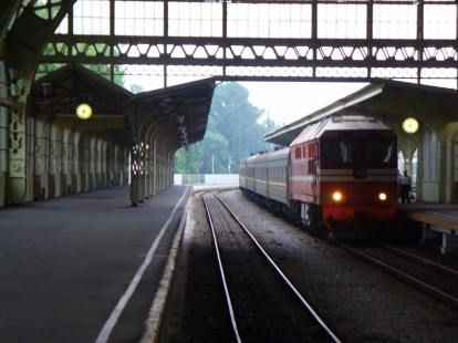 Dworzec kolejowy w Petersburgu - nasz pociąg