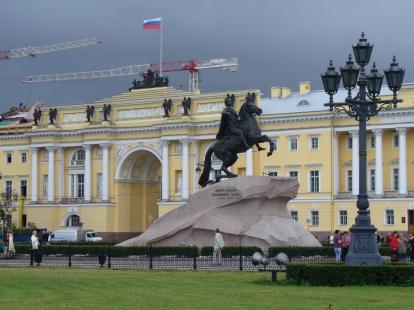 Piotr I na koniu w Petersburgu