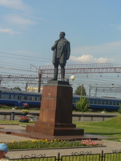 Pomnik księcia Zasłonowa w Orszy na stacji
