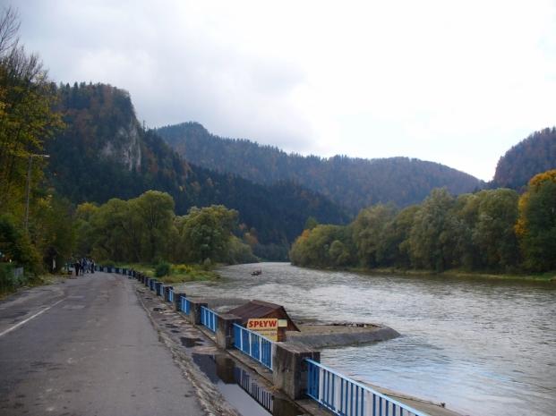 Dunajec w Szczawnicy - jesień