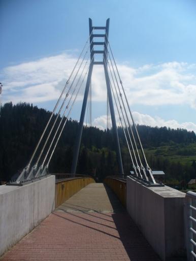 Kładka na Dunajcu - wiosna