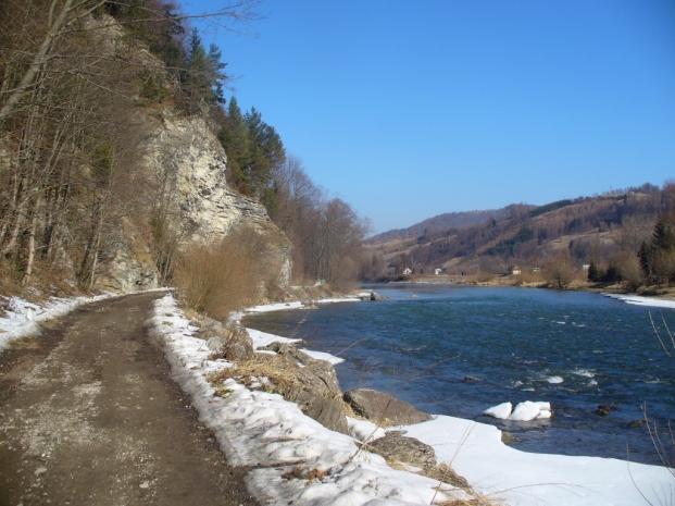 Dunajec - zima