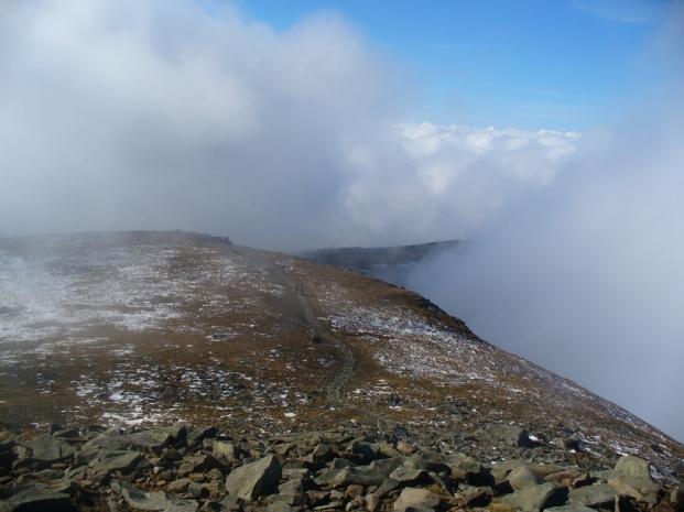 Babia Góra w chmurach, 13 X 2012