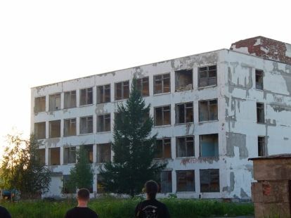 Opuszczony budynek w Apatytach