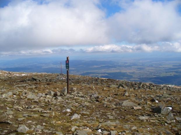 Widok z Babiej Góry na południe