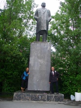 Pomnik Lenina w Apatytach