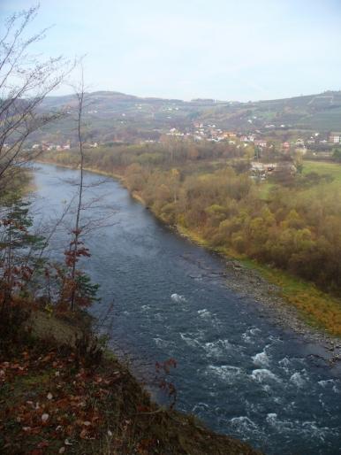 Dolina Dunajca - widok znad Łącka