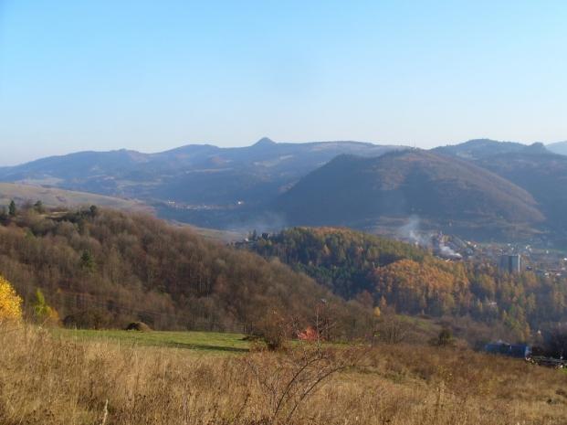 Widok spod Bereśnika na Pieniny
