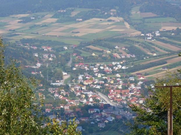 Widok na Łącko, zdjęcie wykonano 30 IX 2008