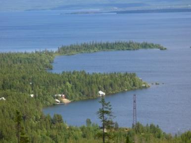 Wybrzeże jeziorka Imandra