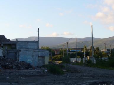 Ruiny fabryki w Apatytach
