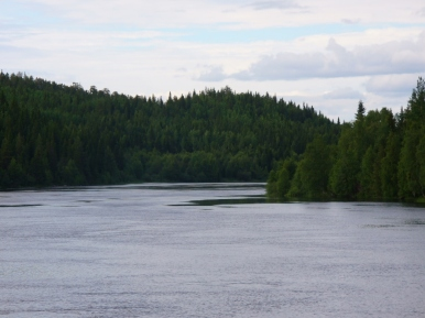 Rzeka Umba w...Umbie (od strony tajgi)