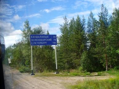 Tylko 1181 km do Sankt Petersburga...