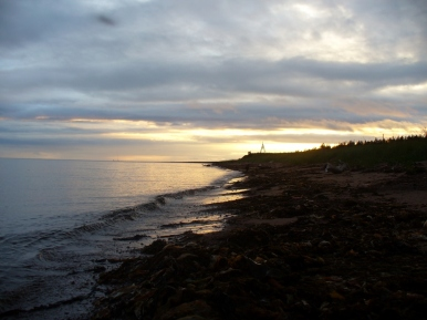 Zachód słońca nad Morzem Białym