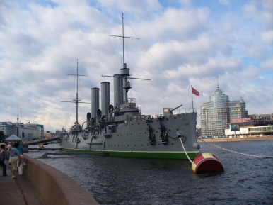 Krążownik Aurora w Petersburgu