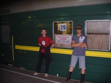Nasz pociąg którym...nie odjechaliśmy z Petersburga