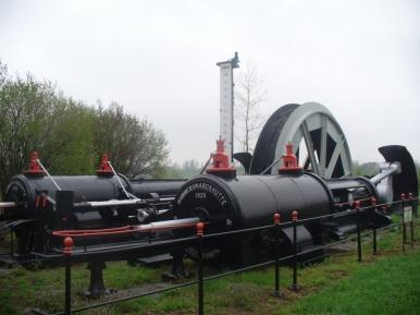 W skansenie maszynowym w pobliżu kopalni srebra w Tarnowskich Górach