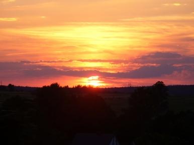 Zachód słońca nad Kielecczyzną