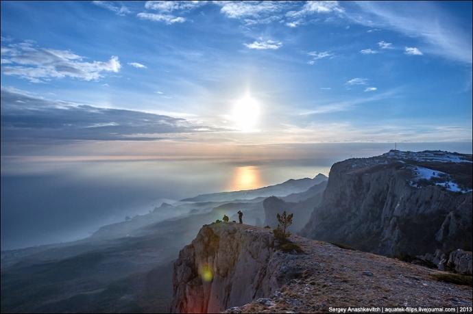 Widok z Ai-Petri na Morze Czarne