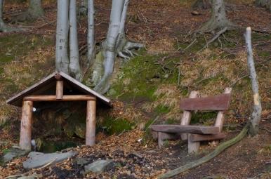 Miejsce odpoczynku pod Suchym Wierchem