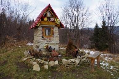 Kapliczka przy żółtym szlaku do Czernichowa (przy osiedlu Klimczaki)