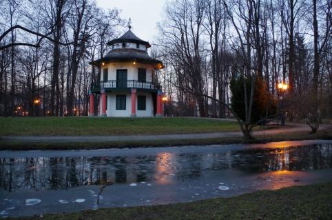 Domek Chiński w żywieckim parku