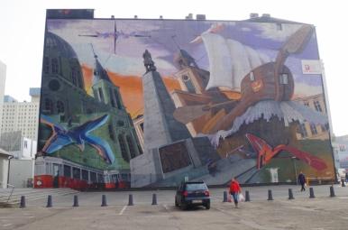 Mural przy Piotrkowskiej
