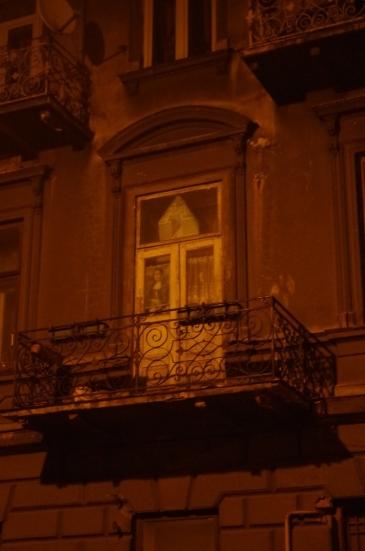 Mona Lisa w oknie przy ul. Grunwaldzkiej, Jarosław
