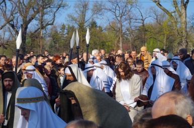 Jezus prowadzony od Heroda do Piłata