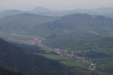 Widok z Małego Rozsutca na Terchową.