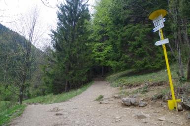 Nové Diery - szlak jednokierunkowy - tutaj wychodzimy