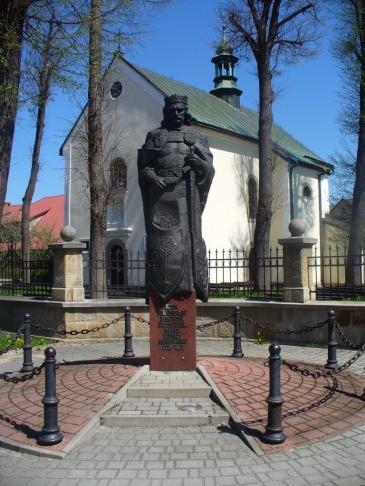 Pomnik króla Władysława Łokietka w Lipnicy Murowanej