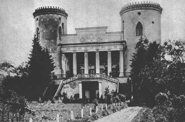 Przedwojenny widok zamku w Czerwonogradzie