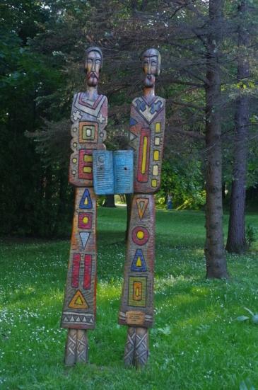 Rzeźby w rymanowskim parku zdrojowym
