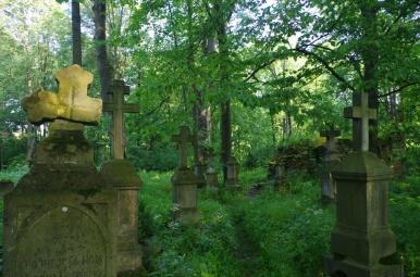 Cmentarz przy cerkwi w Króliku Wołoskim