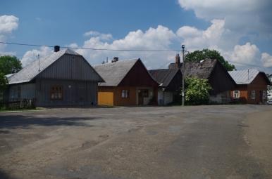 Drewniana zabudowa Jaślisk