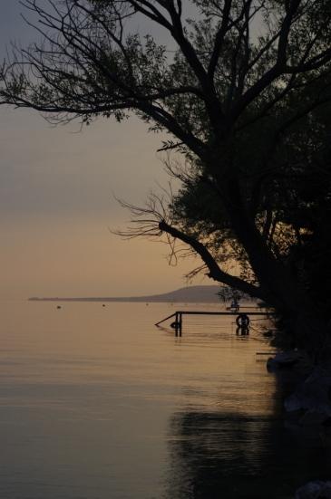 Zachód słońca nad Balatonem
