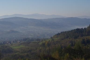 Widok na SW z Bieńkowskiej Góry