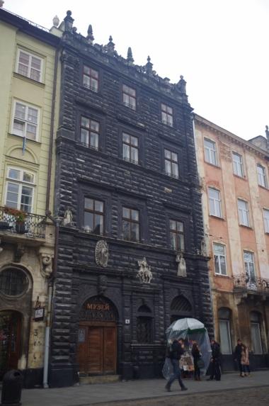 Czarna Kamienica na lwowskim rynku