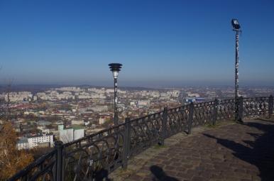 Widok z Kopca Unii Lubelskiej na Lwów