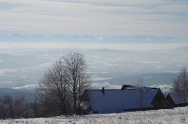 Widok z polany Surówki na Tatry