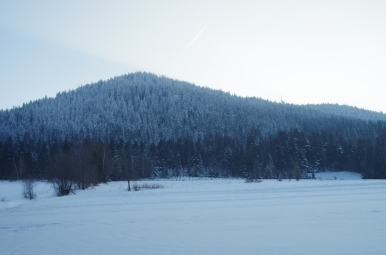 Luboń Wielki - widok z Przełęczy Glisne