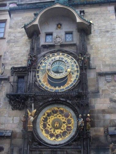 Zegar astronomiczny Orloj, Praga, zdjęcie wykonano 5 IV 2012 r.