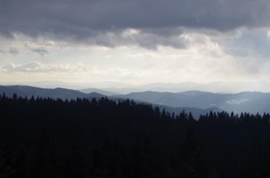 Widok spod Hali Pisanej na południe
