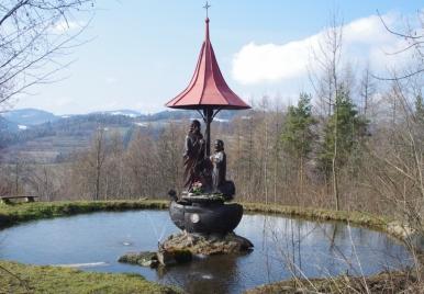 Kalwaria Tokarska - Chrystus i św Piotr na łodzi