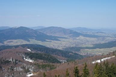 Widok z Mogielicy na zachód