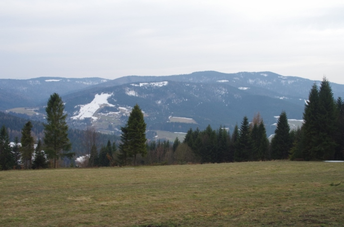 Widok z polany Minówka na Gorce