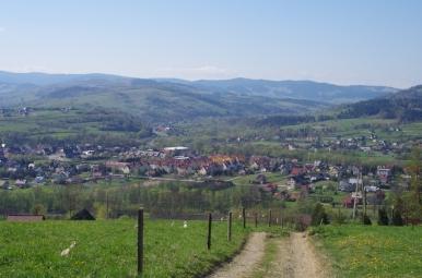 Widok ze szlaku na Lubogoszcz na Gorce