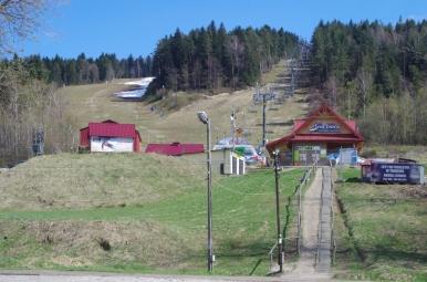 Dolna stacja wyciągu na Śnieżnicę